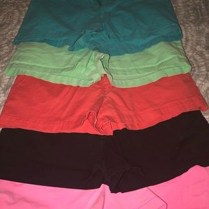 Bundle of 5 target mossimo fit 6 shorts